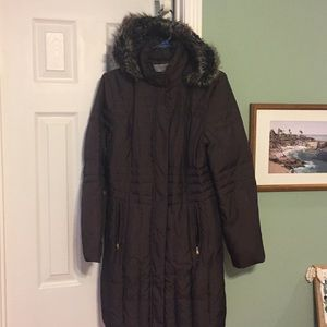 Like new! Anne Klein Warm, long puffer coat, brown